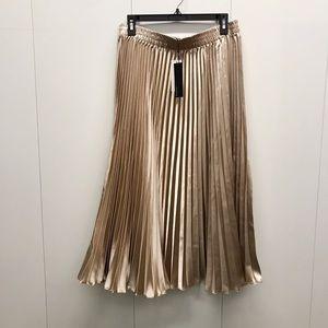 Lucy paris metalic pleated midi skirt
